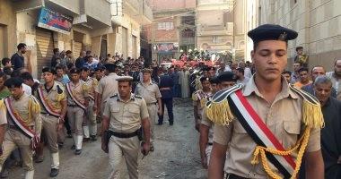 بالصور.. جنازة عسكرية للشهيد يوسف أبو العينين بمسقط رأسه بالغربية