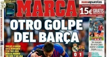 هيمنة برشلونة ضد ريال مدريد حديث الصحافة الإسبانية.. فيديو وصور