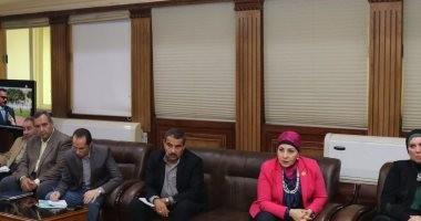 النائبة هالة أبو السعد خلال لقائها المحافظ: طفرة قوية شهدتها كفر الشيخ
