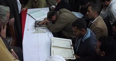 أهالى أبو قرقاص وملوى يشيعون جنازات 3 مجندين استشهدوا فى الواحات