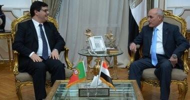 العصار يسقبل وزير الدولة للعولمة البرتغالى لبحث مجالات التعاون المشترك