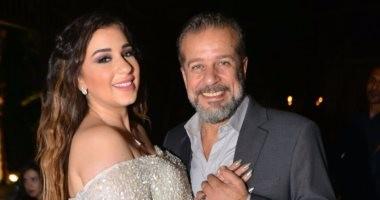 """بالصور.. شريف منير يحتفل بخطوبة ابنته """"أسما"""" على الفنان محمود حجازى"""