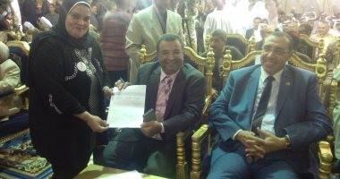 """توقيع مشايخ الصوفية ومريدي """"إبراهيم الدسوقي"""" على استمارة """" علشان تبنيها """""""