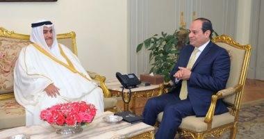 السيسي لوزير خارجية البحرين: حريصون على أمن واستقرار الخليج العربى