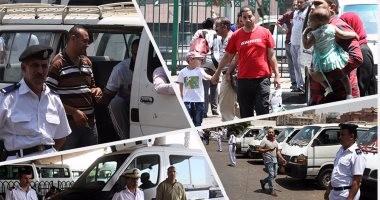 انتشار مباحث المرور بمواقف سيارات القاهرة والجيزة لمنع رفع تعريفة الركوب