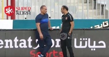 كاميرا سوبر كورة ترصد حوار سري بين عبد الحفيظ وإبراهيم حسن ينتهى بحضن