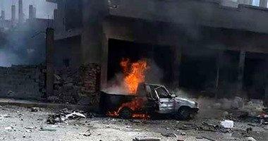 طيران النظام السورى يقصف مناطق للمعارضة فى مدينة حلب