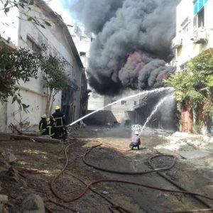 محافظ الإسكندرية: لا ضحايا بشرية في حريق مصنع البويات بالعجمي