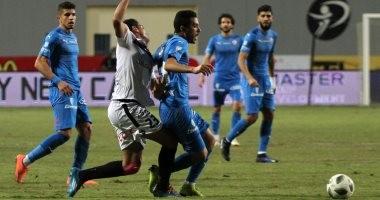 محمد عادل وتطبيق ممتاز للقانون فى هدف مباراة الزمالك والنجوم