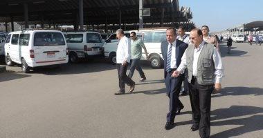 بالصور.. مديرا أمن الغربية والمرور يتفقدان مواقف سيارات الأجرة بطنطا