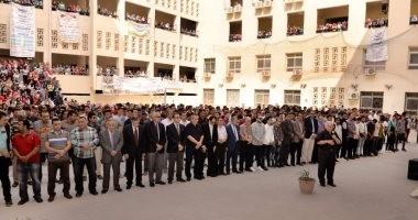بالصور .. رئيس جامعة المنصورة يتقدم صلاة الغائب على أرواح شهداء الشرطة