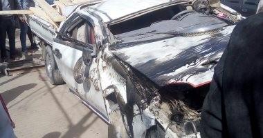 زحام مرورى أعلى كوبرى التونسى اتجاه الإباجية بسبب حادث تصادم سيارتين