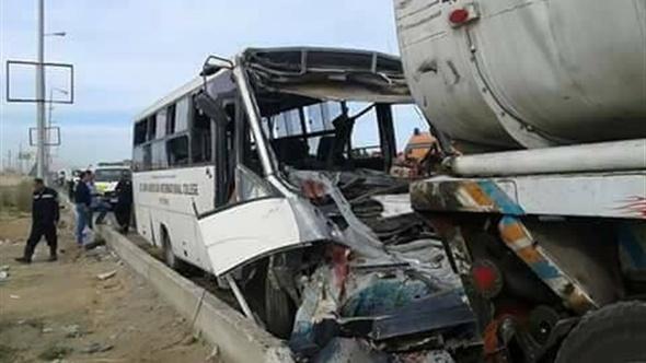 ننشر أسماء ضحايا حادث أتوبيس مدرسة سان جون الدولية