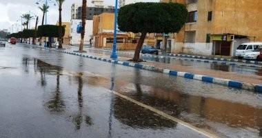 صور.. سقوط أمطار على مطروح والساحل الشمالي