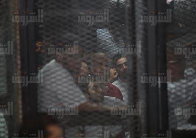 بالصور.. تأجيل محاكمة بديع في «فض رابعة» لـ19 نوفمبر وإخلاء سبيل متهمين