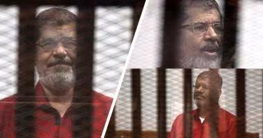 """بدء محاكمة """"مرسى"""" وآخرين بـ""""إهانة القضاء"""".. وعصام سلطان: """"أحاكم غيابيا"""""""