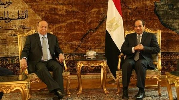 السيسي يطمئن على صحة الرئيس اليمني