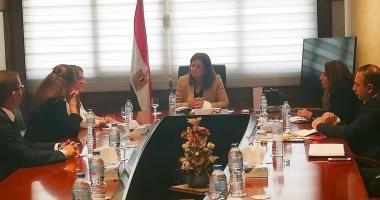 وزيرة التخطيط تبحث مع البنك الأوروبى المشروعات المقترح تنفيذها فى مصر