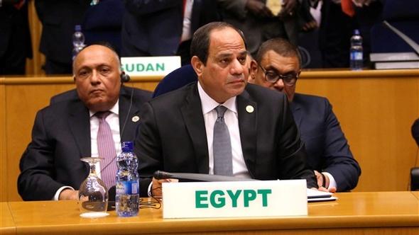 """السيسي في قمة """"مالابو"""": مصر ستواصل جهودها لتحقيق السلام والتنمية المستدامة"""