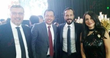 صور.. كريم عبدالعزيز ومصطفى شعبان وأحمد عز فى زفاف أحمد فهمى وهنا الزاهد