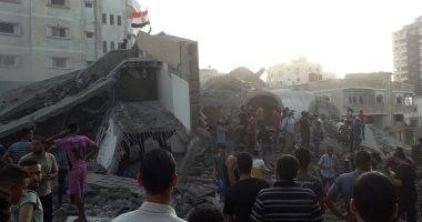 صور.. إصابة 18 فى قصف لجيش الاحتلال الإسرائيلى على مبنى بغزة