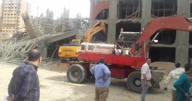 إيقاف أعمال البناء والتحفظ على معدات بناء بـ7 عقارات مخالفة بالإسكندرية