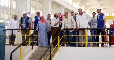 صور.. محافظ الإسكندرية يتفقد محطة المنشية و السيوف لمياه الشرب