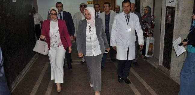 وزيرة الصحة تطالب برفع كفاءة مستشفى مدينة نصر للتأمين الصحي