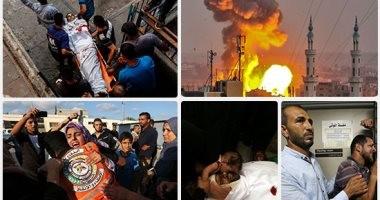 شهداء ومصابون فى القصف الإسرائيلى لقطاع غزة