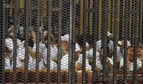 """حجز النطق بالحكم على متهمين في """"حرق محكمة ديرمواس"""""""