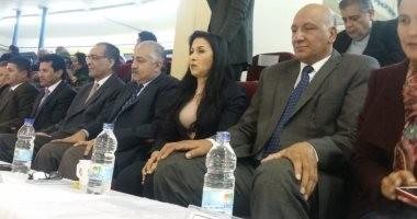 وزير الرياضة يحضر نهائى البطولة العربية لسيدات الطائرة