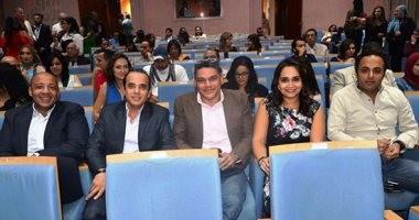"""بالصور.. بدء ندوة فيلم """"فستان ملون"""" بحضور معتز عبد الفتاح ومحمد الشقنقيرى"""