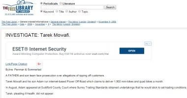 موقع بريطانى يكشف محاكمة طارق موافى ونجله بتهم النصب والاحتيال
