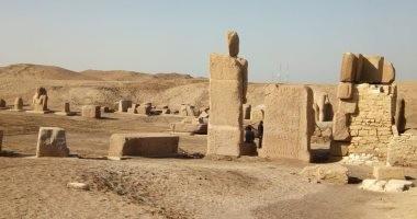 شاهد.. معبد آمون وبحيرة مقدسة وتمثال أبو الهول.. أهم آثار منطقة صان الحجر