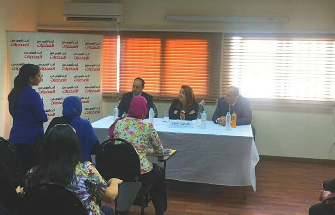 وزيرة التضامن تلتقى المتعافين من المخدرات بمستشفى المعمورة