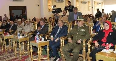 """محافظ كفر الشيخ ومدير الأمن يشهدان الاحتفال بـ"""" يوم الشهيد"""""""
