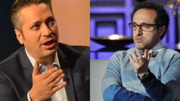 مشادة إعلامية بين تامر أمين وشريف مدكور.. والجمهور يتضامن ويرد بـ البيض المدحرج