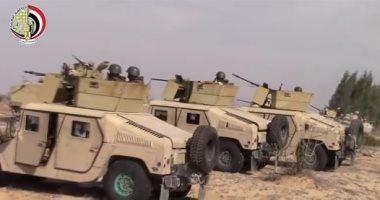 المتحدث العسكرى ينشر فيديو استهداف قوات الجيش بؤر الإرهابيين بشمال سيناء