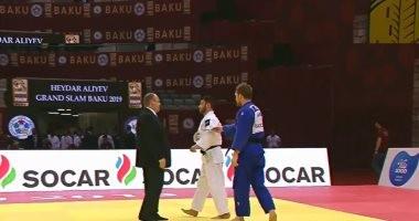 سوبر كورة .. لحظة رفض لاعب مصري مصافحة منافسه الإسرائيلى بعد إسقاطه فى الجودو