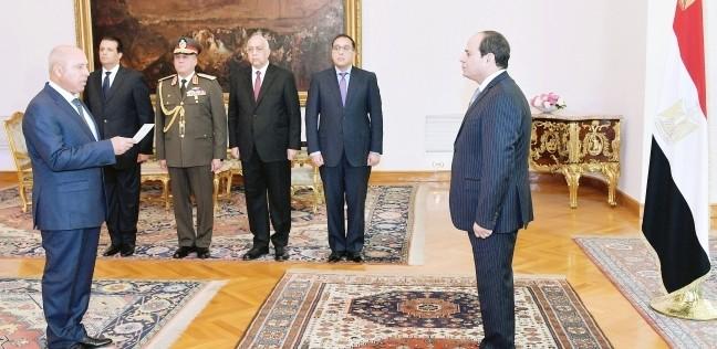 عاجل| كامل الوزير يؤدي اليمين أمام السيسي وزيرا للنقل
