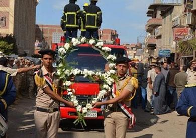 قرية محلة مرحوم بالغربية تودع في جنازة عسكرية أحد «شهداء الجيش»