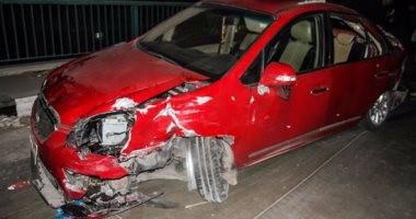 مصرع سائق وإصابة زوجته فى حادث انقلاب سيارة بزراعى البحيرة