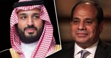الرئيس السيسي يستقبل ولى العهد السعودى بمطار القاهرة