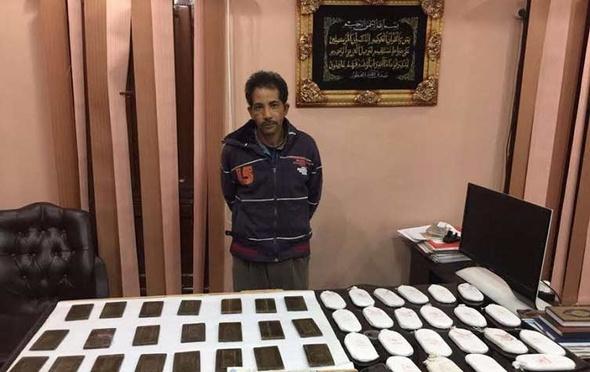 ضبط سائق بحوزته حشيش وترامادول في المحلة