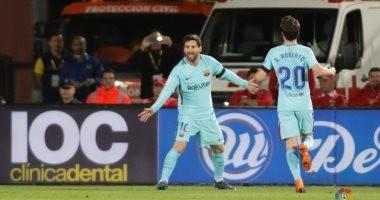 """فيديو.. ميسى يتقدم لـ""""برشلونة"""" على لاس بالماس بهدف فى الشوط الأول"""