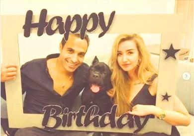 خطيبة الفنان أحمد فهمي تحتفل بعيد ميلاده