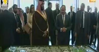 الرئيس السيسى وولى العهد السعودى يفتتحان فندق ومنتجع الفرسان