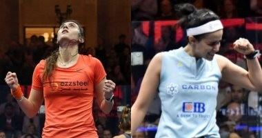 نور الشربينى vs الطيب.. مصر تضمن لقب الرجال والسيدات بطولة العالم للاسكواش