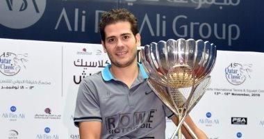 كريم عبد الجواد يتوج بلقب بطولة قطر الدولية للإسكواش
