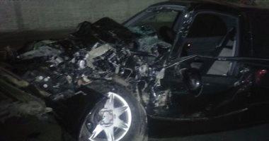 إصابة 11 شخصا فى حادث تصادم سيارتين بطريق أسيوط القاهرة الزراعى